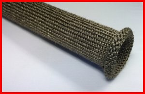 basalt knit sleeve for vehicle exhaust pipe protection