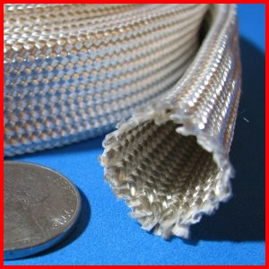 Fiberglass Braided Heat Treated Sleeve Premium Grade Wire Cable Hose Protection